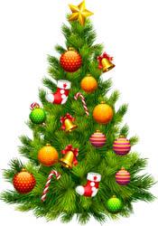 Julgran hos Vedums Eternellhörna i Vedum